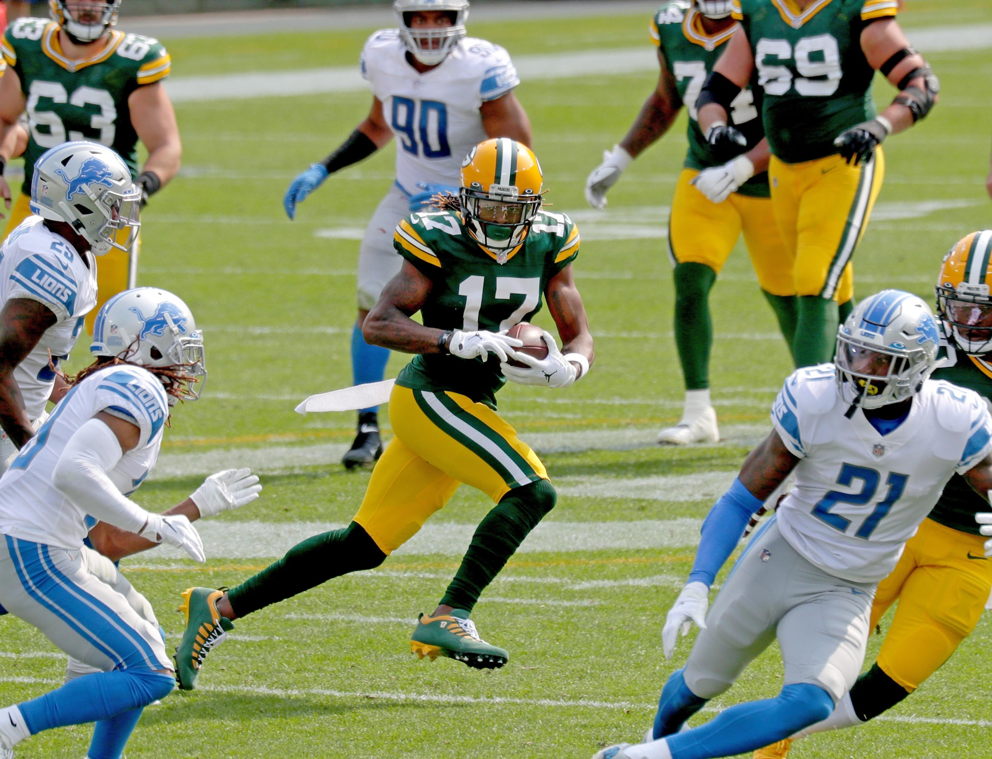 Davante Adams' Status for Sunday Against the Saints Up in the Air